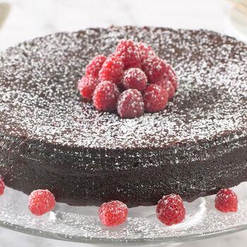 Fudgy Chocolate Raspberry Cake