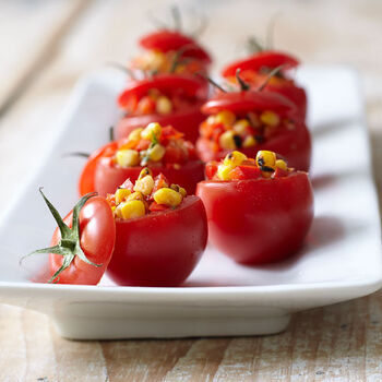 Roasted Corn Stuffed Tomatoes