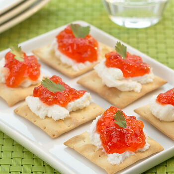 Goat Cheese and Red Pepper Jelly