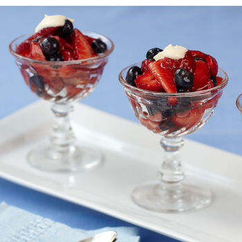 Mixed Berries with Sweetened Crème Fraiche