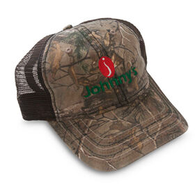 Johnny's Tractor Hat - Camo front, black mesh back.