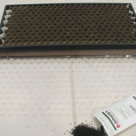 Paperpot Seeder - Medium, with 3.5 mm holes.