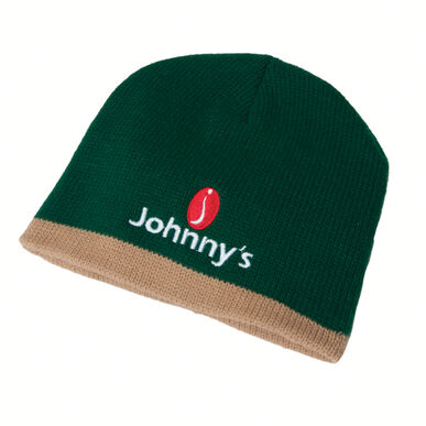 Johnny's Winter Beanie - Green with Khaki trim Hats